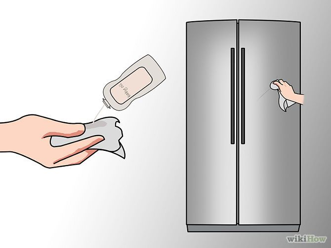 how to clean and shine stainless steel refrigerator