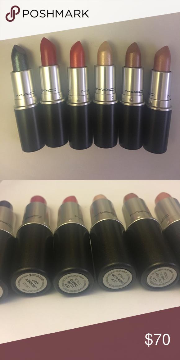 5 brand new MAC metallic, frost, lustre lipsticks Brand