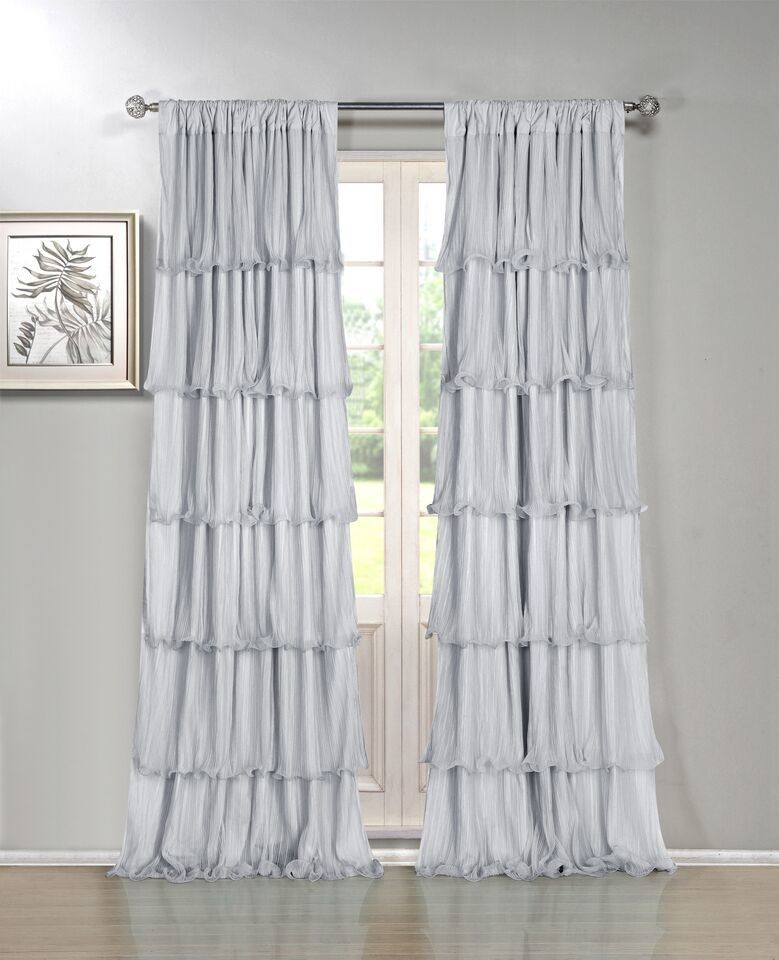 Festival Window Curtain Single Panel With Images Ruffle