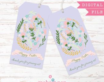 Easter bunny egg gift bag tag digital spring gift bag tag easter bunny egg gift bag tag digital spring by makeitpopevents negle Choice Image