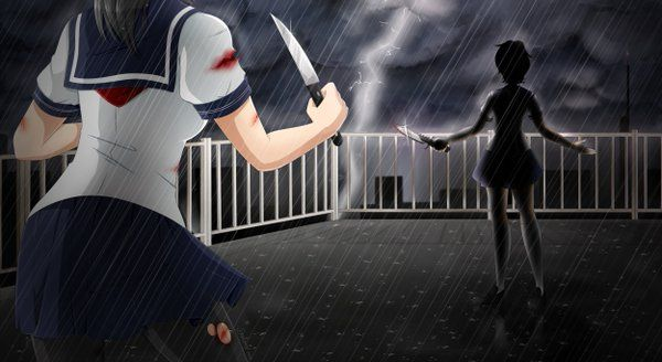 """YandereDev sur Twitter : """"@JorgeRazen A 1v1 blade fight on the rooftop in the rain during a thunderstorm? No, way too corny to consider..... https://t.co/wqfLc0eDqK"""""""