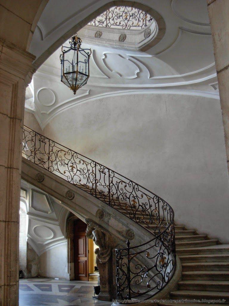 l 39 escalier ovale abbaye des pr montr s pont mousson france escalier ext rieur et. Black Bedroom Furniture Sets. Home Design Ideas