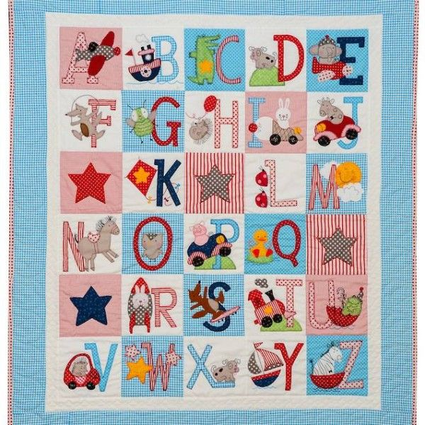 ABC Boys quilt pattern by Bronwyn Hayes | Red Brolly (Australia ... : alphabet baby quilt pattern - Adamdwight.com