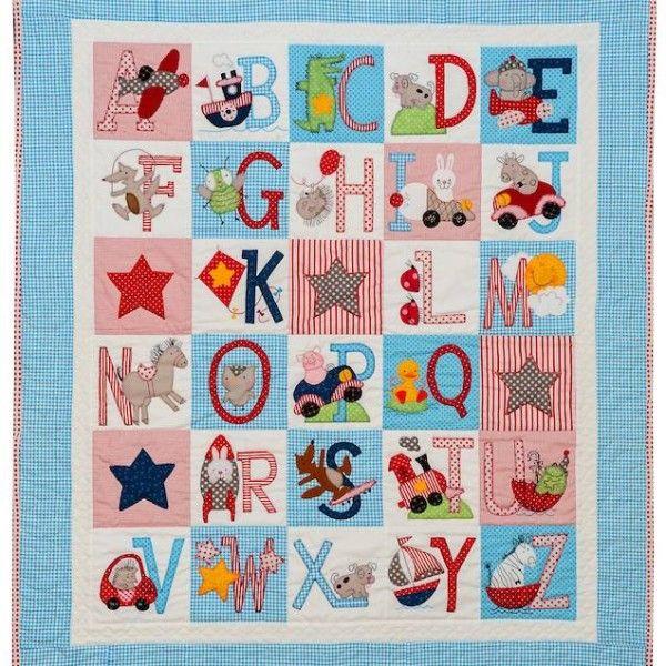 ABC Boys quilt pattern by Bronwyn Hayes   Red Brolly (Australia ... : alphabet baby quilt pattern - Adamdwight.com