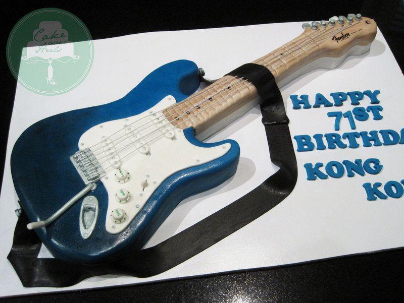Fender Electric Guitar Cake By Sliceofcake Deviantart Com On