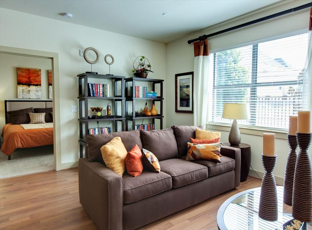 Model living room at #AMLI City Vista, a luxury apartment ...