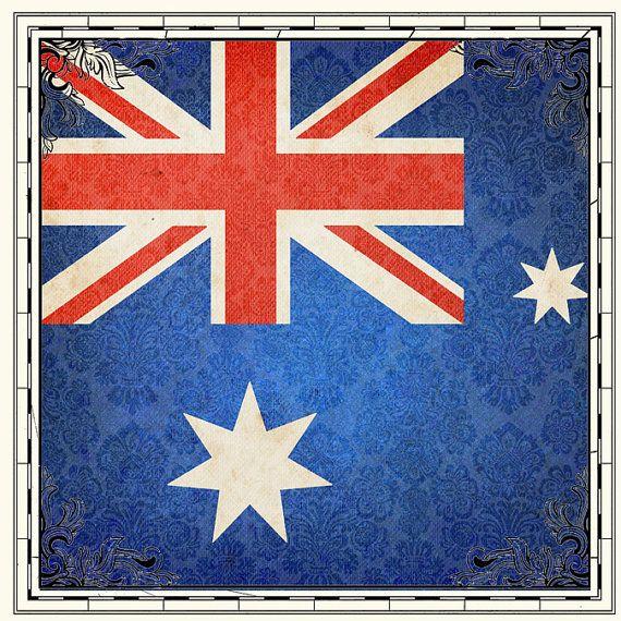 Australia Digital Scrapbooking Paper. Instant by ScrapbookCustoms1