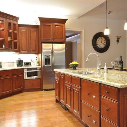 Chestnut Brown Light Brown Kitchen Cabinets Ideas Home Design Ideas