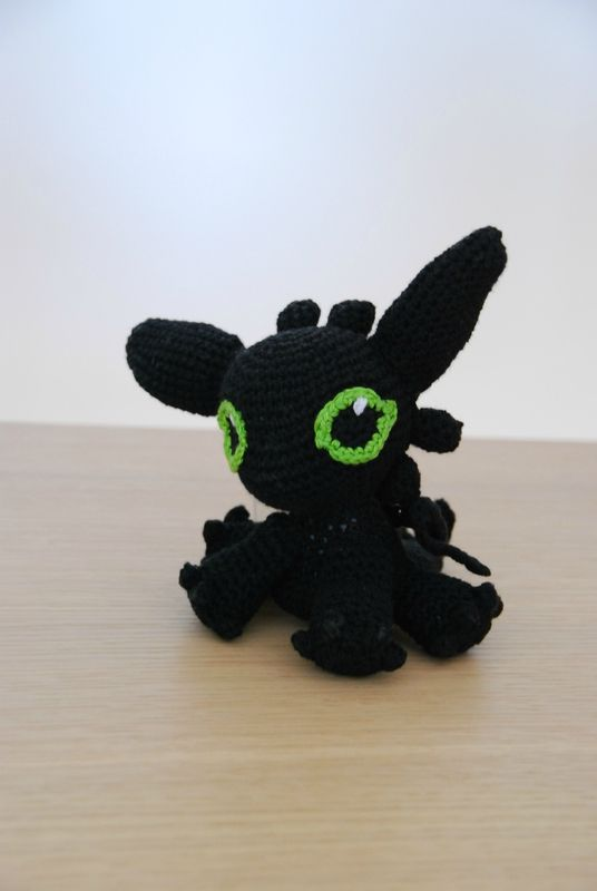 Baby Toothless (how to train your dragon) amigurumi Mon ...