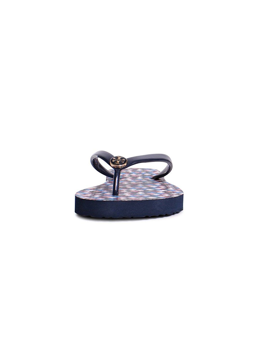 4d58848fdce3 Tory Burch Thin Printed PVC Flip Flop Sandals In Tory Navy Prism     Click  image to read more details.  sandals
