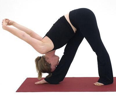 get a deep hamstring stretch with pyramid pose  standing