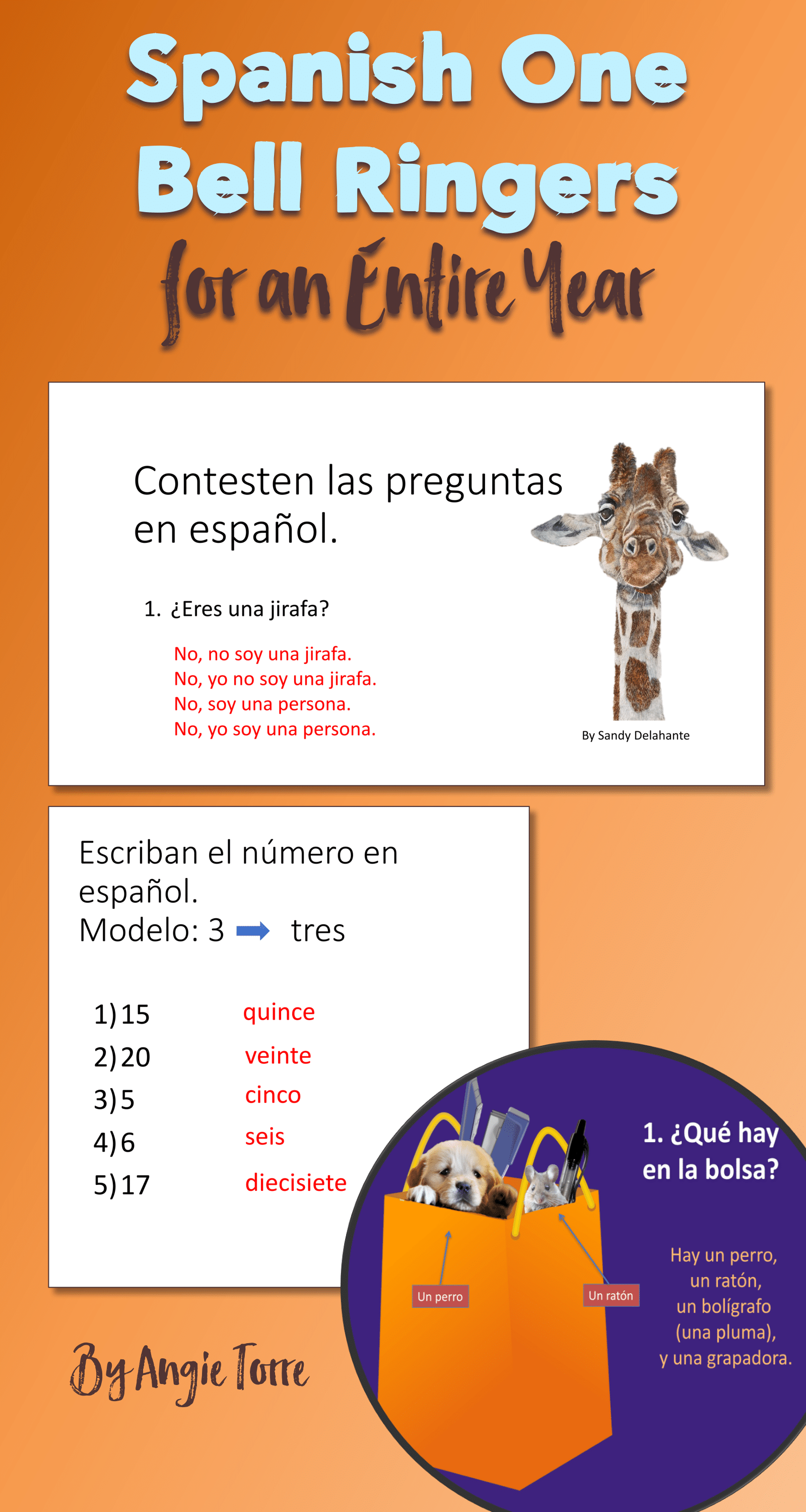 These Spanish One Bell Work Powerpoints Will Keep Your