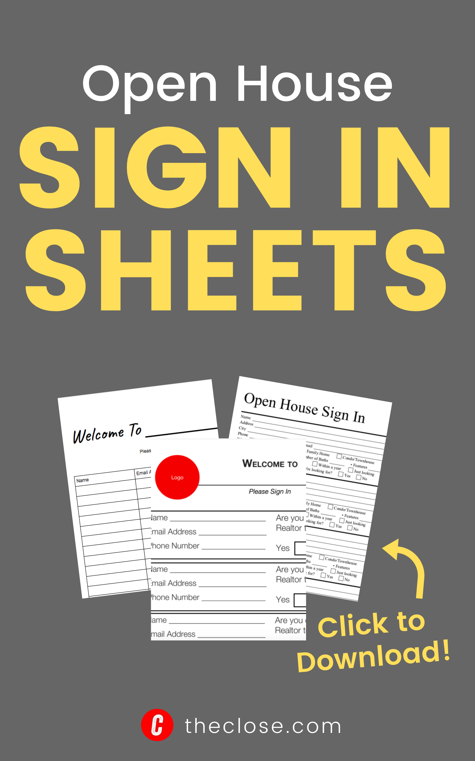Realtor Printable Realtor Open House Sign In Sheet Printable Open House Real Estate Real Estate Signs Open House Signs