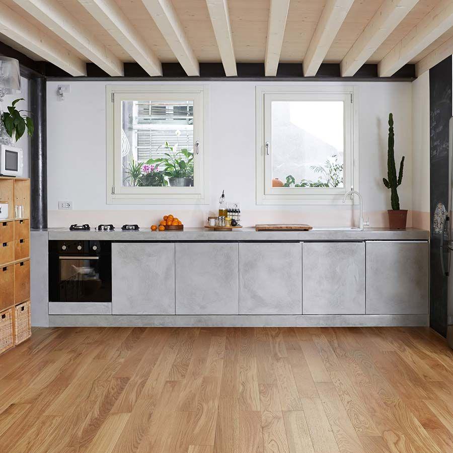 una cucina ikea trasformata con microtoppingottimo effetto ...