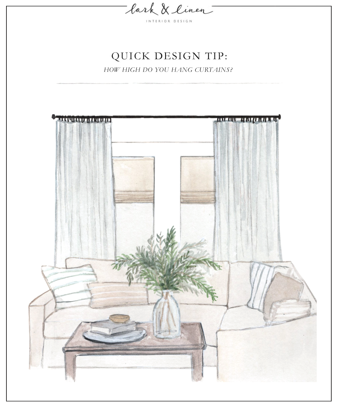 Quick Design Tip How High Do You Hang Curtains In 2020 Hanging