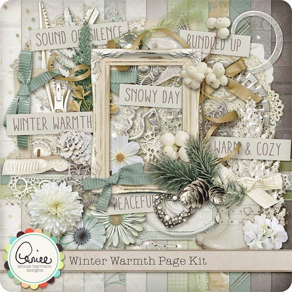 Winter Warmth Page Kit :: Gotta Pixel Digital Scrapbook Store  $7.99