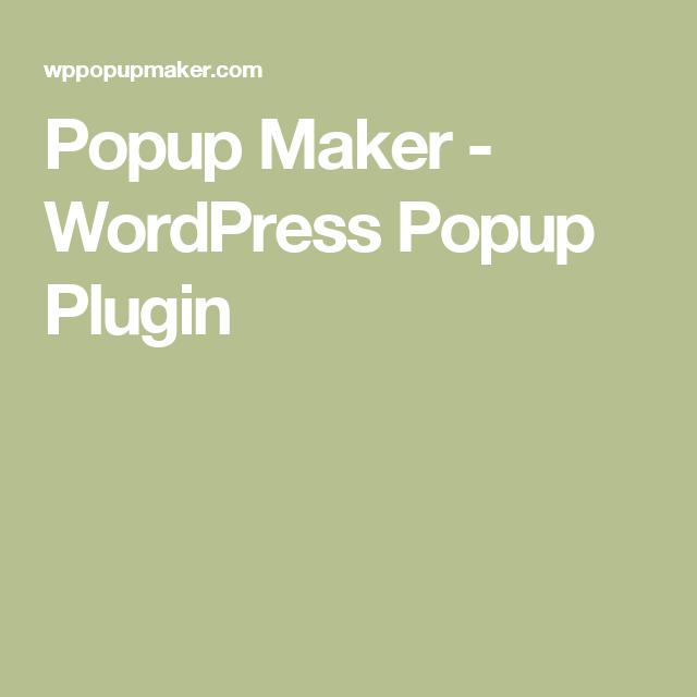 Popup Maker - WordPress Popup Plugin | WordPress Plugins
