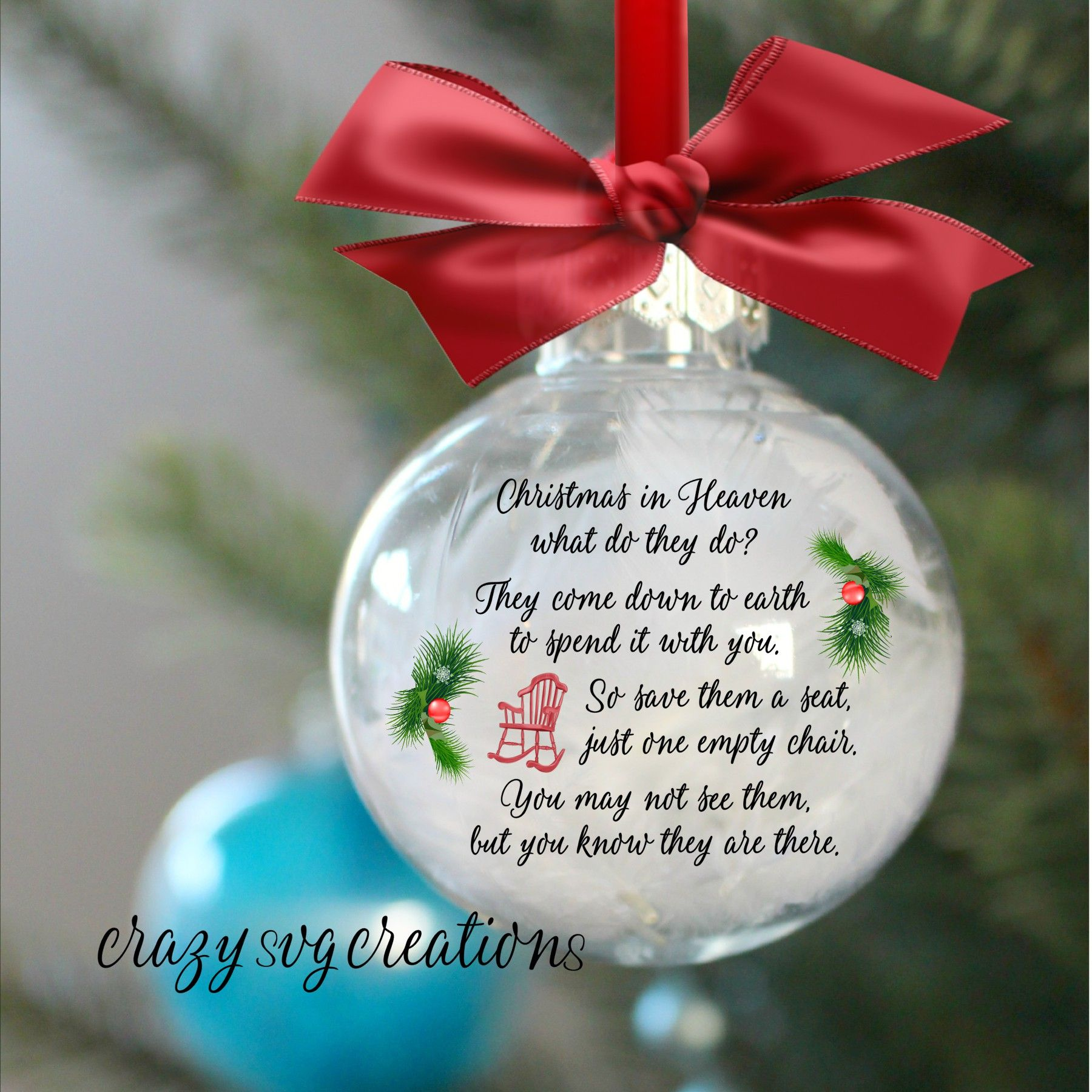 Christmas in Heaven ... little red chair poem   Christmas ...