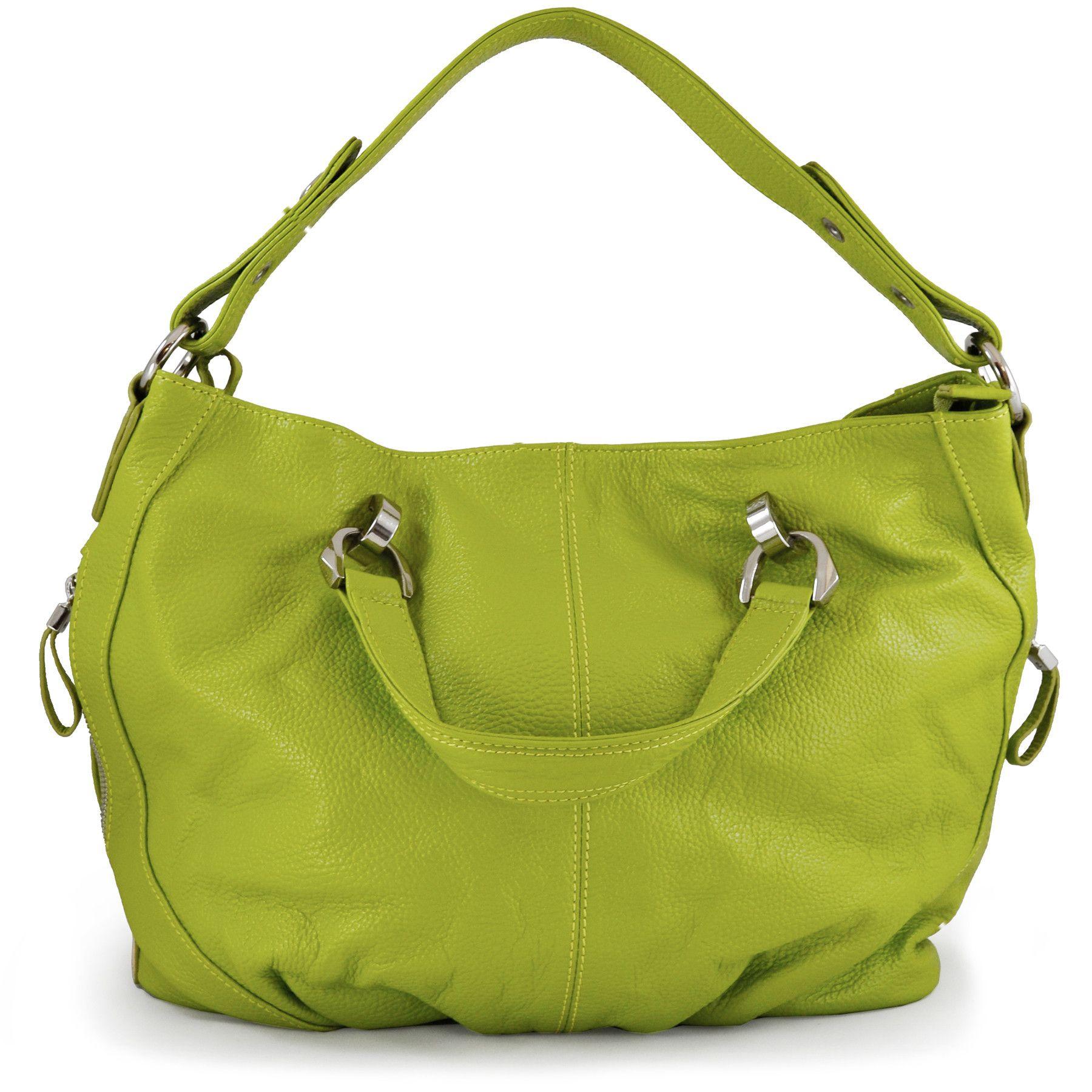 Cross Body Bags Leather Handbag By Alicia Klein Stella Lime