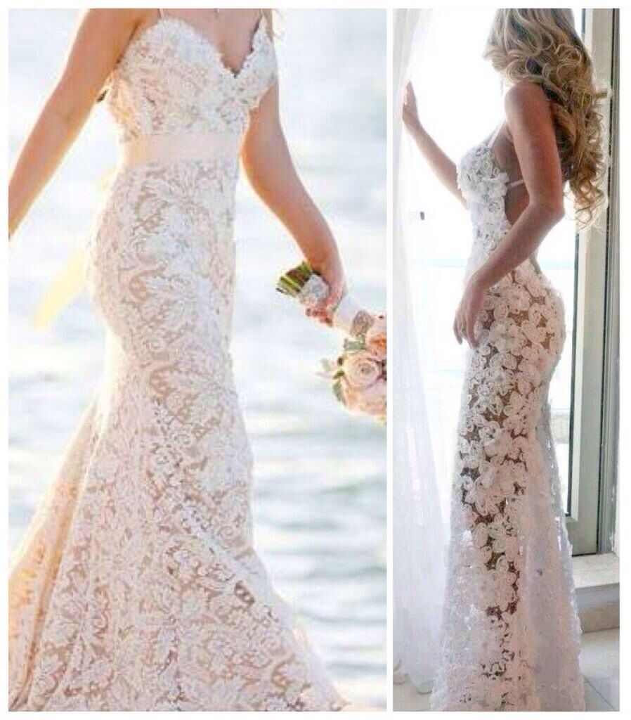 Lace beach wedding dress. Ahhhh LOVE THIS!!!! But not see through ...
