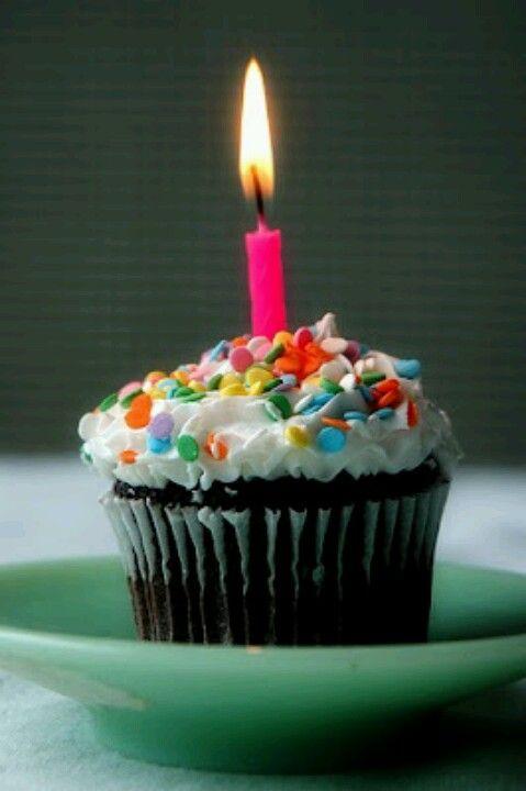 Birthday Cupcake Happy Birthday Pinterest