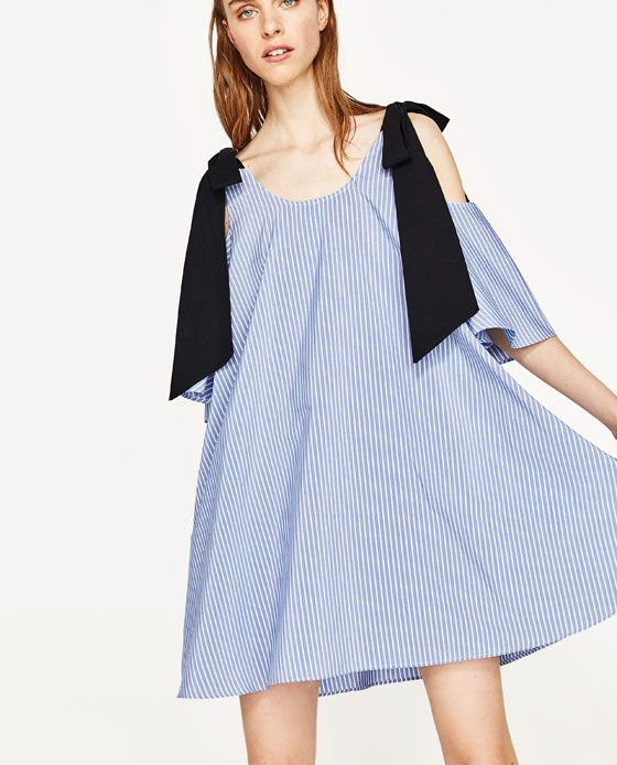ba69e80d Image 2 of POPLIN DRESS WITH BOW AT THE BACK from Zara | Spring 17 ...