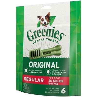 Greenies Regular Original Dental Dog Treats 12ct 12oz Affiliate Original Affiliate Dental Greenies Dog Dental Treats Dental Treats Dog Dental Chews