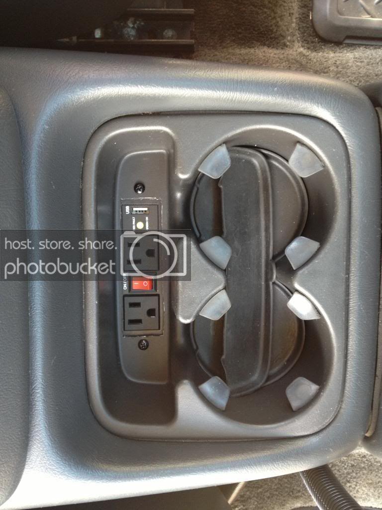 400w Inverter Behind Cup Holder Install Chevy Trucks Gmc Trucks Chevy