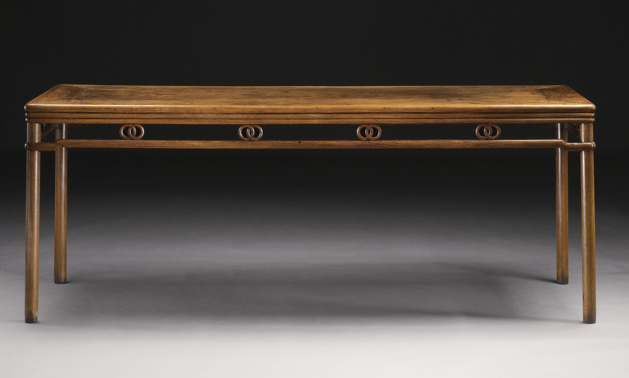 A Huanghuali Corner Leg Painting Table (huazhuo), 17th Century