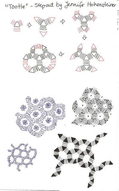 Tootle Step-out Zentangle, Dibujo y Mandalas