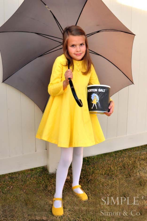 Last Minute DIY Halloween Costumes - Quick Ideas for Adults Kids and Teens - Morton Salt Girl Costume Tutorial  sc 1 st  Pinterest & 36 Last Minute DIY Halloween Costumes | Pinterest | Morton salt ...