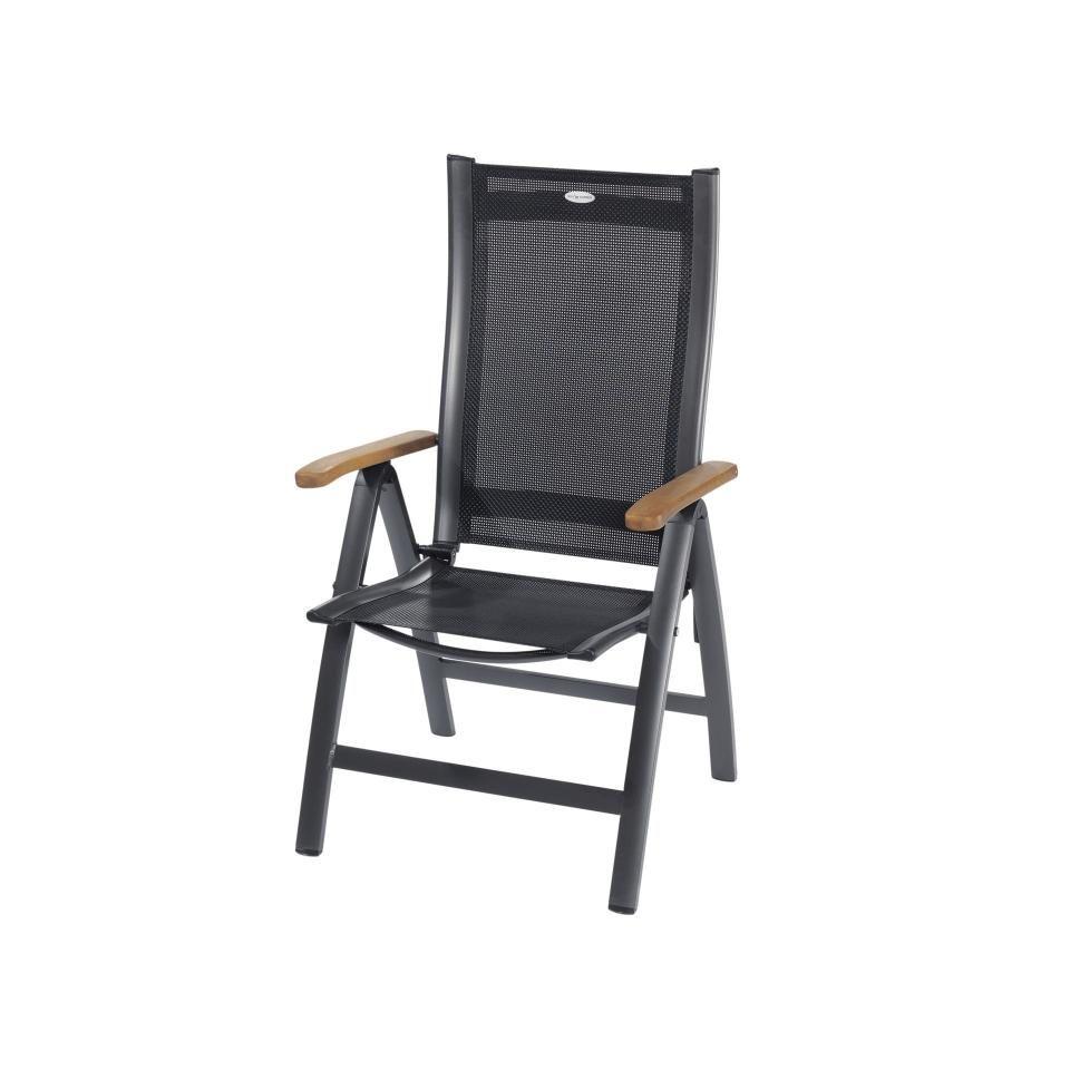 Gartenstuhl Prestige 5 Positionen Anthrazit Danisches Bettenlager Gartenstuhle Stuhle Bettenlager