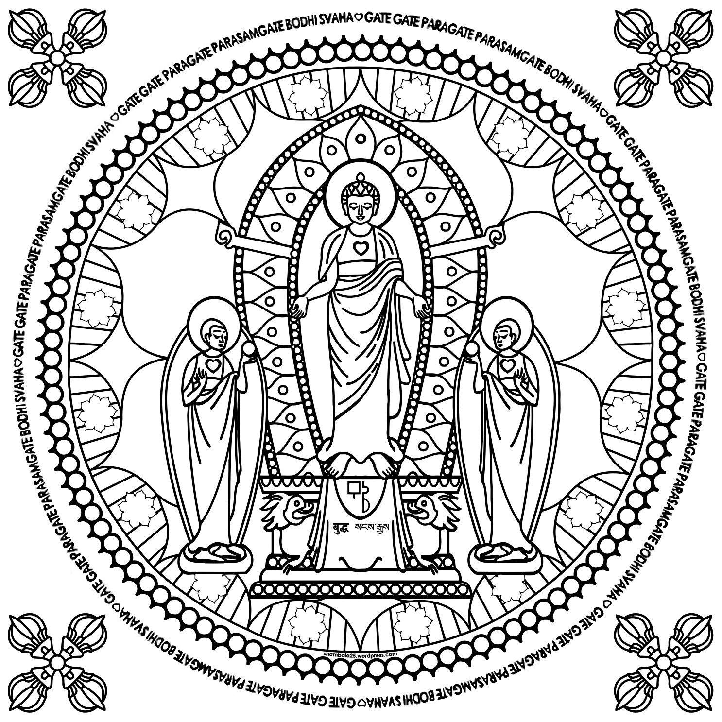 Volwassenen Kleurplaat Boeddha Boeddha Kleurplaat Boeddha Mandala Kleurplaten