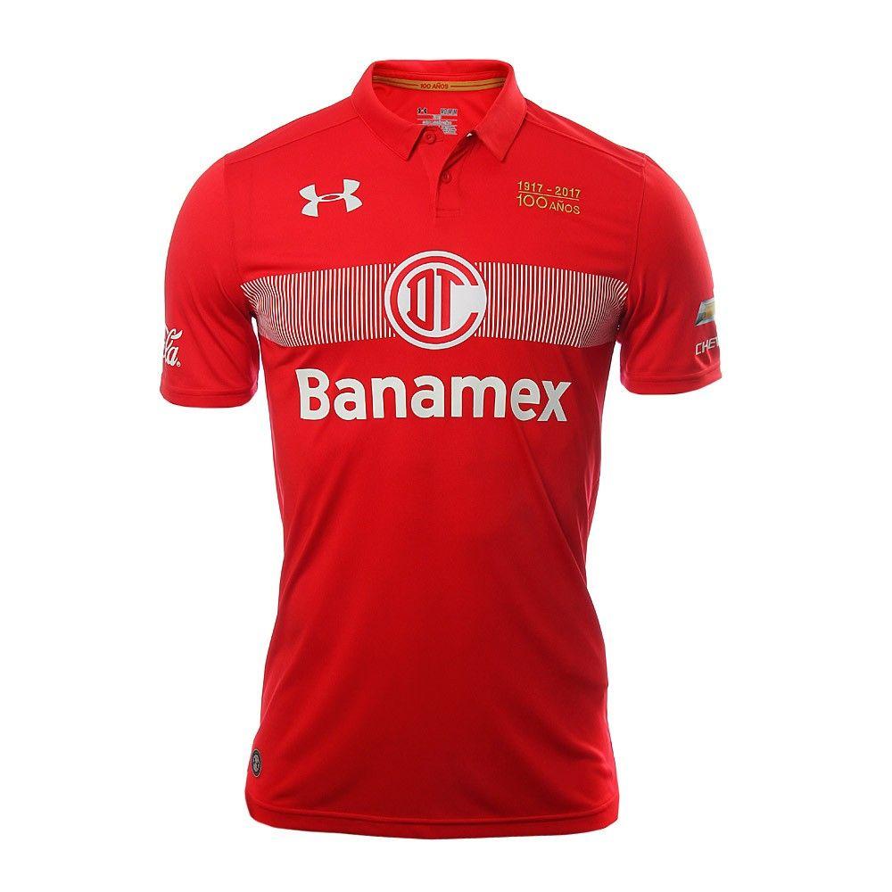 Deportivo Toluca FC (Mexico) - 2016 2017 Under Armour Home Shirt ... 8e1fe3037d3ef