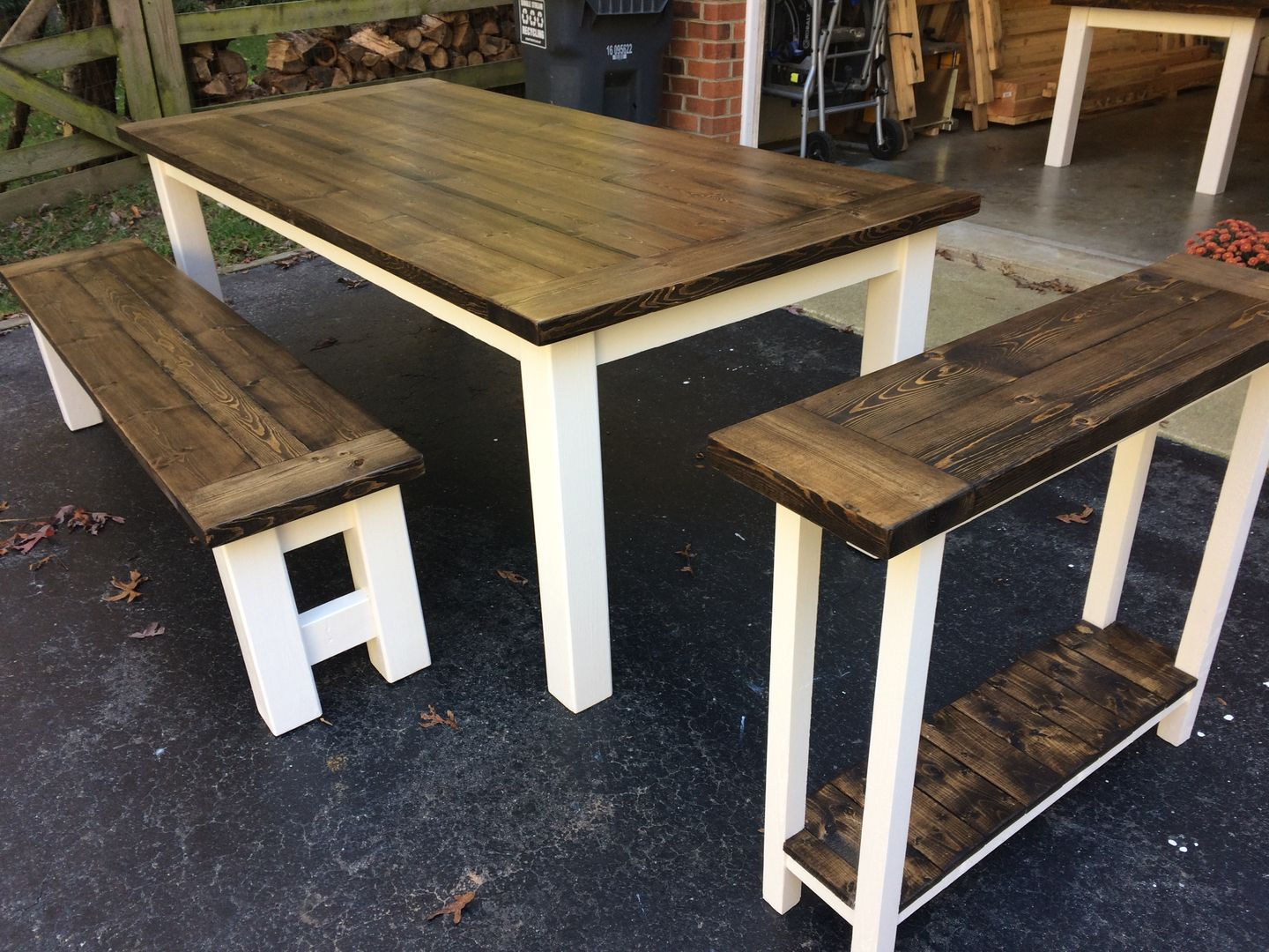 Wood Furniture, Farm House Tables Into The Woods
