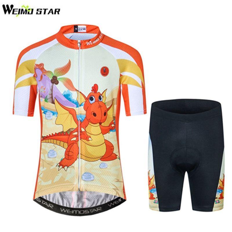 e51384b6b32 Weimostar Cycling Children Jersey dinosaur Orange Bike Clothing Riding High  quality Boy Girl Biking Jersey. Yesterday s price  US  29.99 (24.68 EUR).