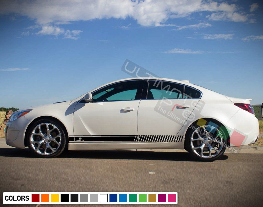 2x Sticker Decal Side Door Sport Stripes Compatible With Buick Regal 2016 2017 2018 Hood Sunroof Buick Regal Racing Stripes Buick [ 866 x 1100 Pixel ]