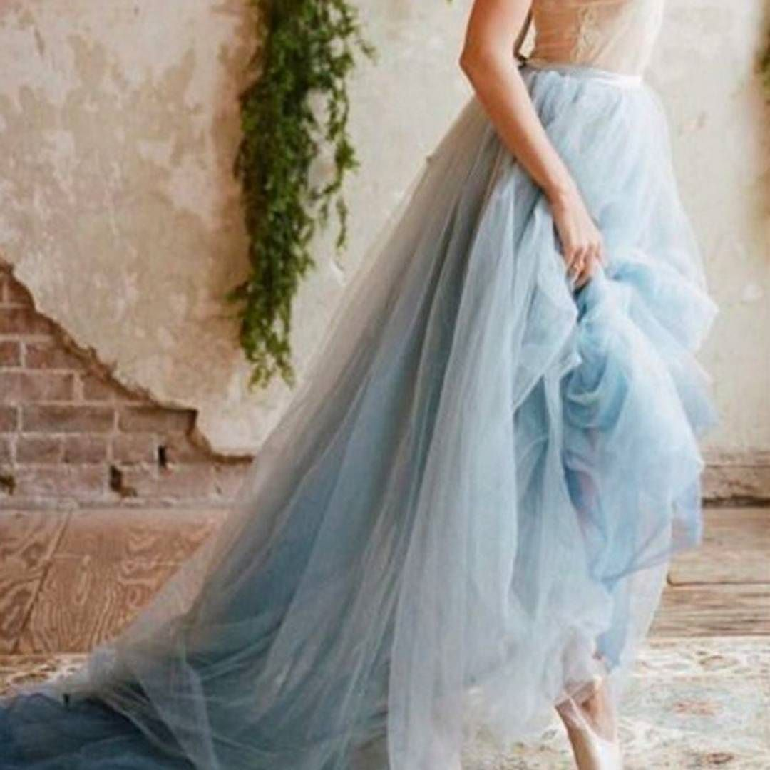 Would you rock softblue frothy fashion for your wedding day this