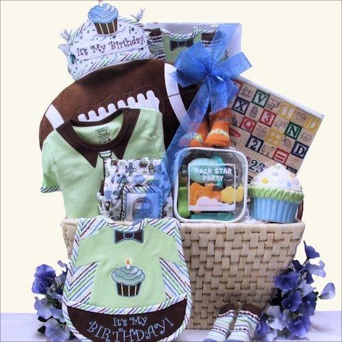 Babys 1st Birthday Gift Basket