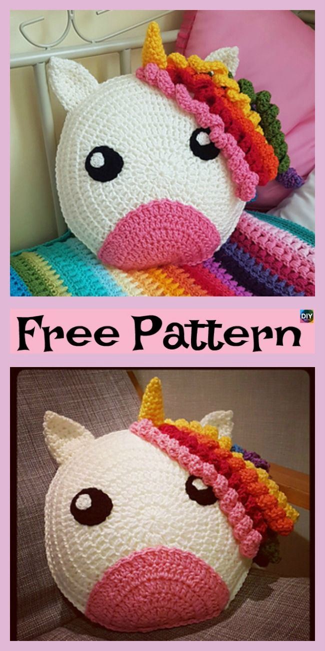 Cute Crochet Unicorn Pillow Free Patterns Crochet Projects