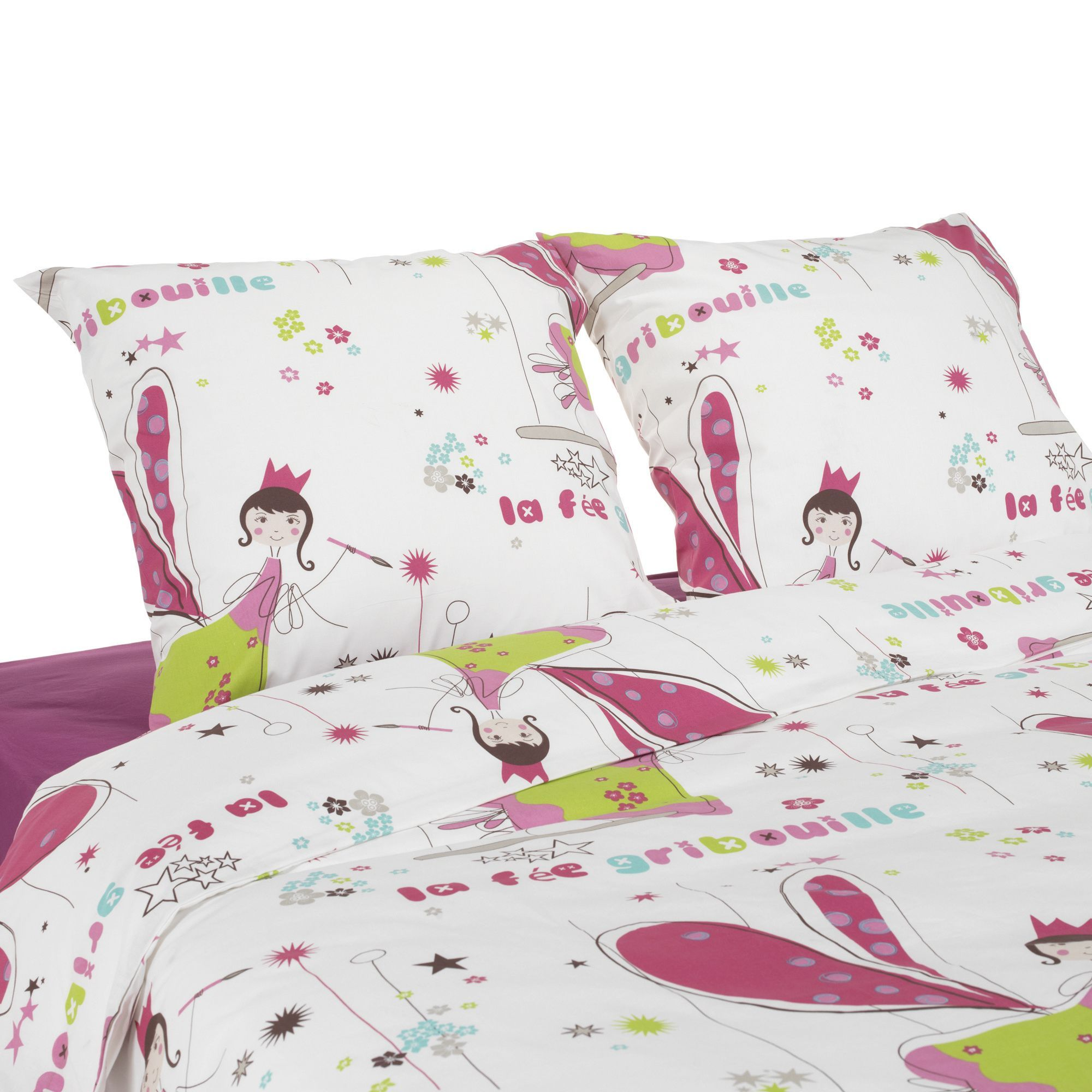 Parure De Couette Pour Lit 1 2 Places Fee Gribouille Le Linge De Lit Enfant Alinea Home Decor Decor Toddler Bed