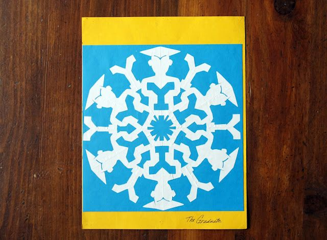 Fun creative snowflakes.