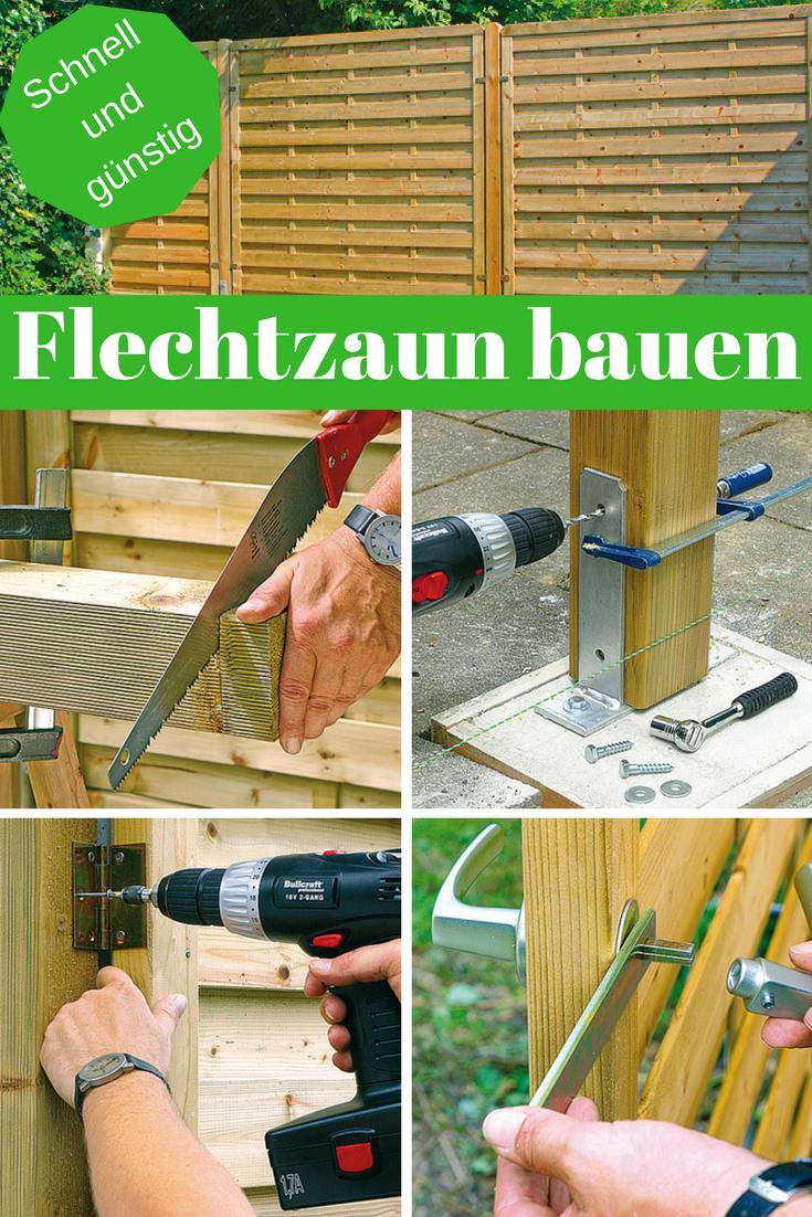 Flechtzaun