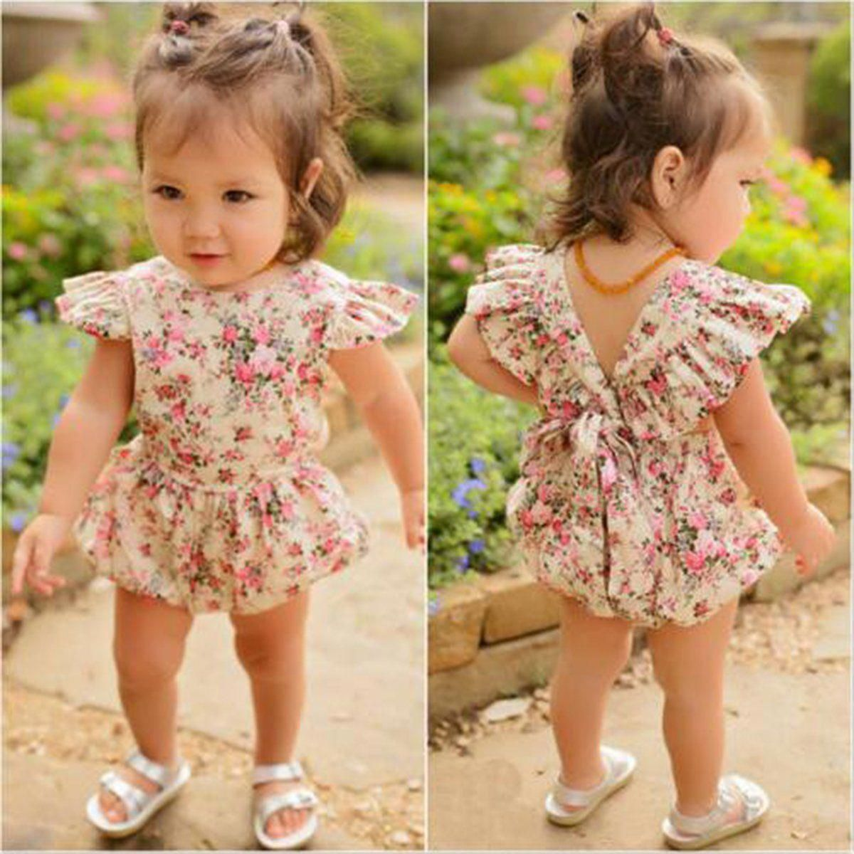 12 Month Baby Girl Clothes Buy Baby Dresses Online Little Girl Baby Dresses 20190730 Baby Girl Floral Romper Kids Outfits Kids Outfits Girls