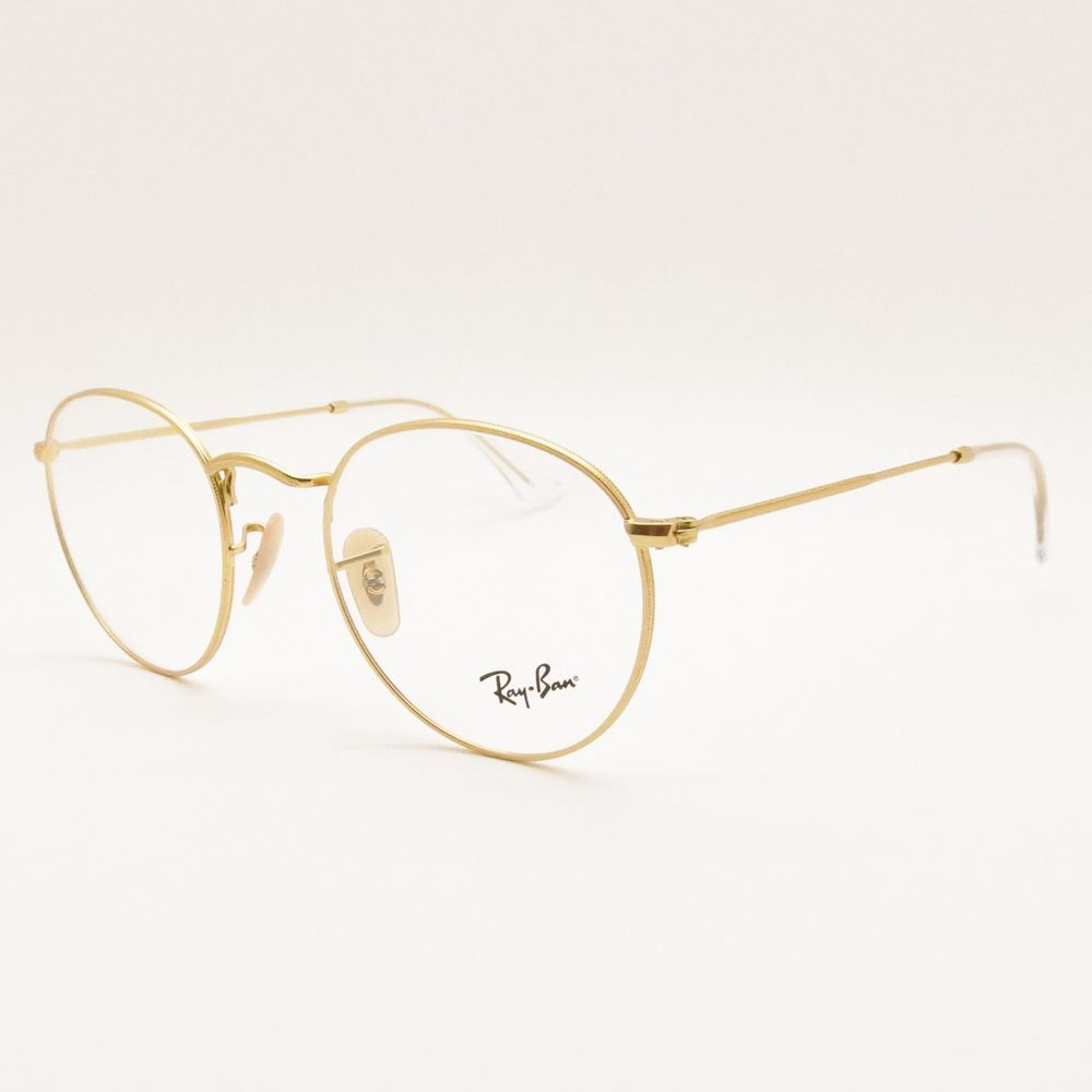 e10cc1062 Ray Ban RB 3447 V 2730 Matte Gold RX Frame New Authentic Buyer Picks Size # RayBan #Round