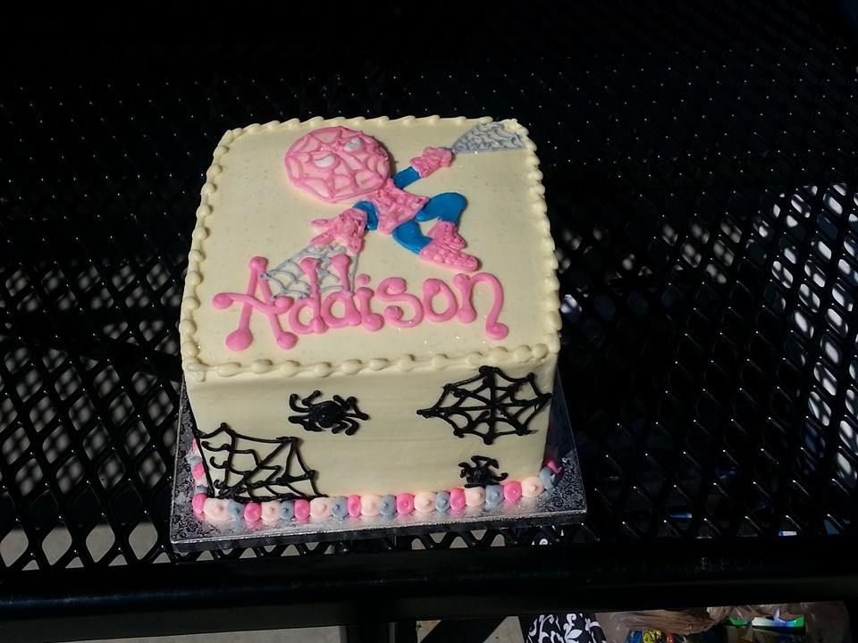 Spidergirl Our Baby Girls 5th Birthday Cake Thanks To Edgars