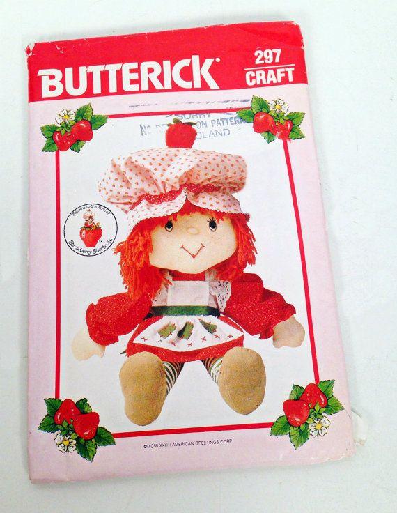 vintage Strawberry Shortcake doll pattern - Butterick - 1983