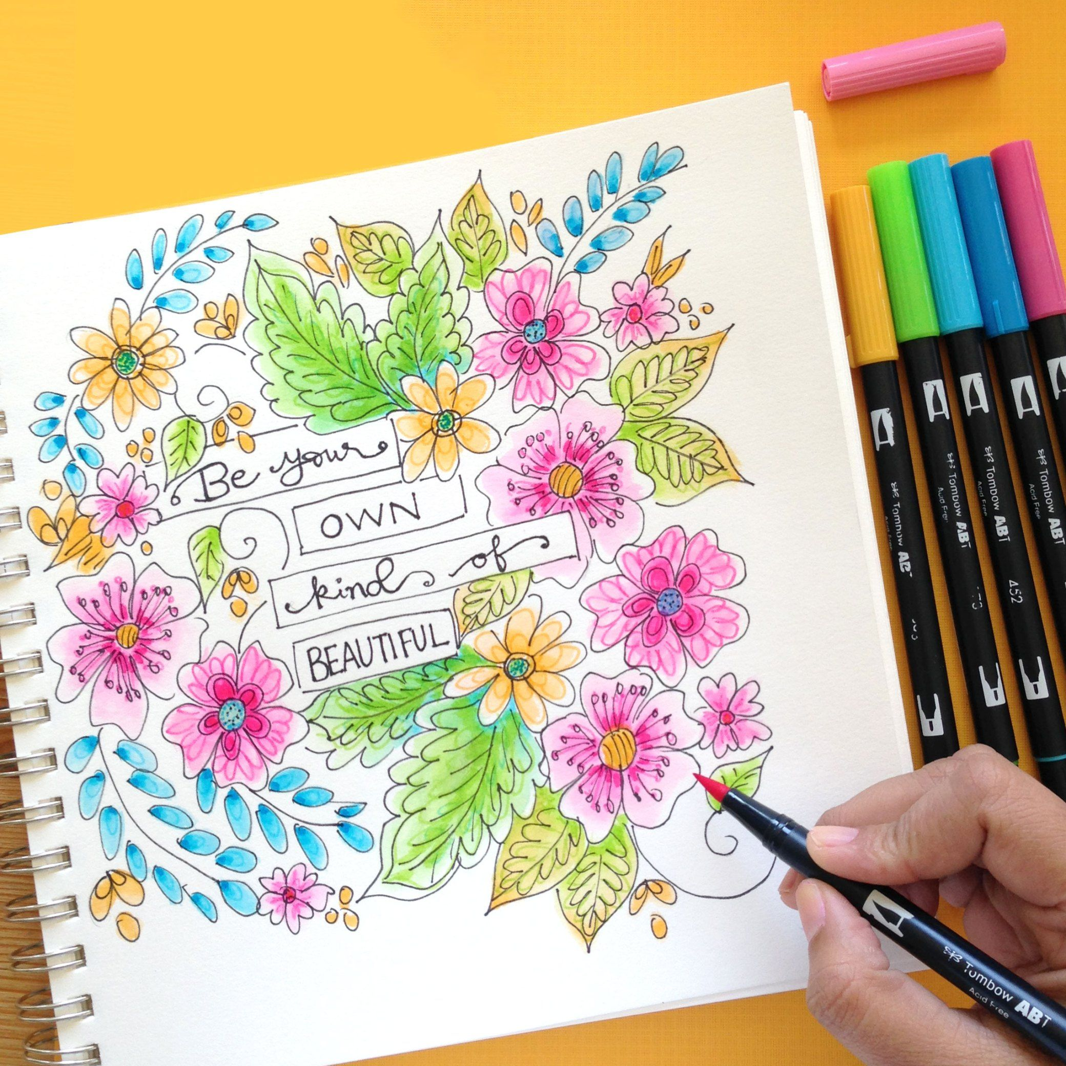 Flower Coloring Printable That You Can Print And Color Now Brush