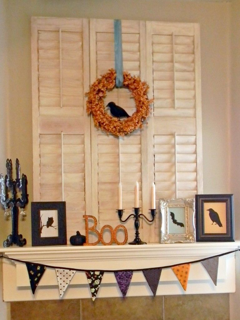 Halloween mantel for different design ideas - Organize and Decorate - fall and halloween decorations