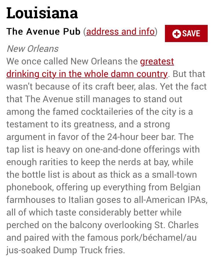 Best beer bar in Louisiana